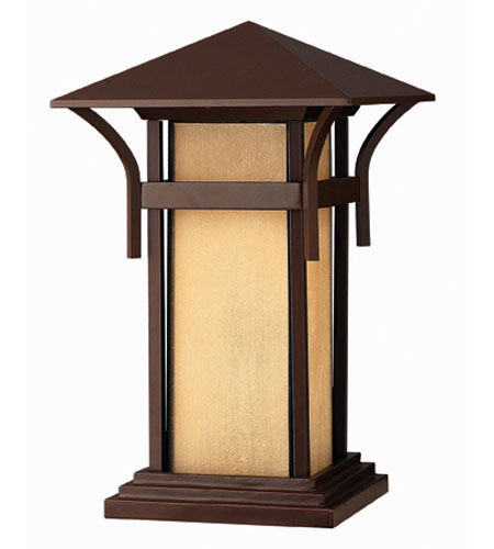 Hinkley Lighting Harbor 1 Light Pier Mount Lantern in Anchor Bronze 2576AR-ES photo