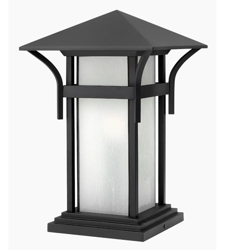 Hinkley Lighting Harbor 1 Light Pier Mount Lantern in Satin Black 2576SK-ES photo