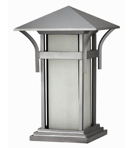 Hinkley Lighting Harbor 1 Light Pier Mount Lantern in Titanium 2576TT-ES photo