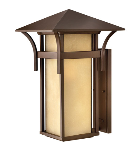 Hinkley Lighting Harbor 1 Light GU24 CFL Outdoor Wall in Anchor Bronze 2579AR-GU24