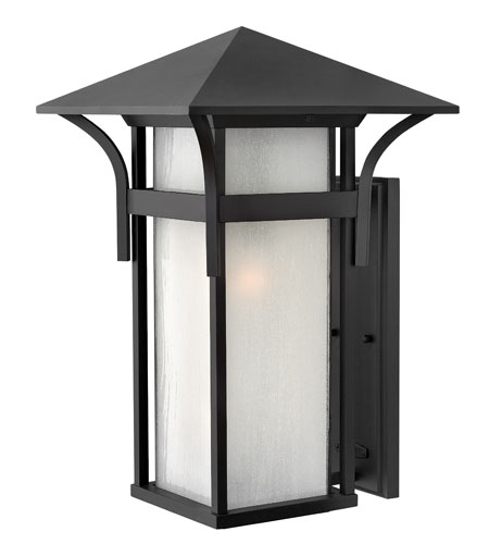 Hinkley Lighting Harbor 1 Light Outdoor Wall Lantern in Satin Black 2579SK-ES photo