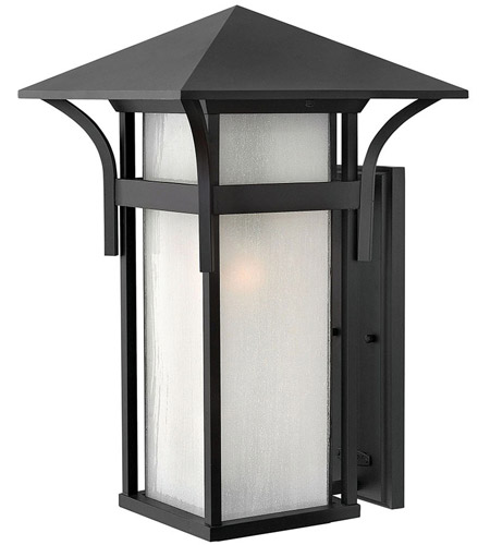Hinkley Lighting Harbor 1 Light Outdoor Wall Lantern in Satin Black 2579SK-LED photo