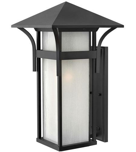 Hinkley Lighting Harbor 1 Light Outdoor Wall Lantern in Satin Black 2579SK-LED