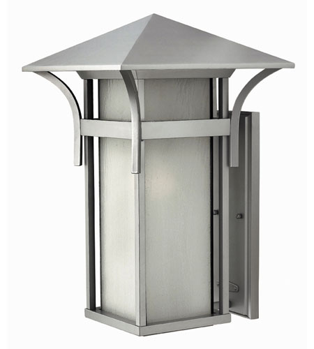 Hinkley Lighting Harbor 1 Light Outdoor Wall Lantern in Titanium 2579TT-DS photo