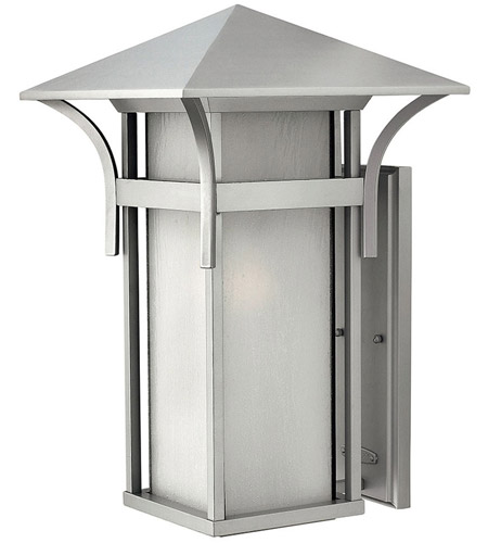 Hinkley Lighting Harbor 1 Light Outdoor Wall Lantern in Titanium 2579TT