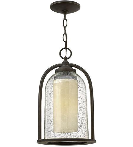 Hinkley Lighting Quincy 1 Light Outdoor Hanging Lantern in Oil Rubbed Bronze 2612OZ