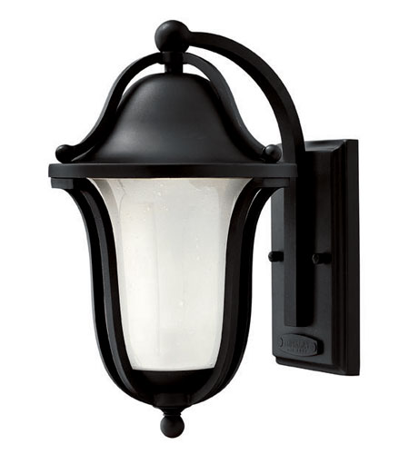 Hinkley Lighting Bolla 1 Light Outdoor Wall Lantern in Black 2630BK-ES photo