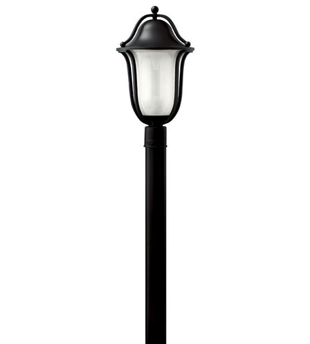 Hinkley Lighting Bolla 1 Light Post Lantern (Post Sold Separately) in Black 2631BK-ES