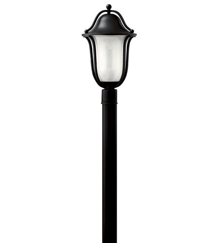 Hinkley Lighting Bolla 1 Light Post Lantern (Post Sold Separately) in Black 2631BK-EST photo
