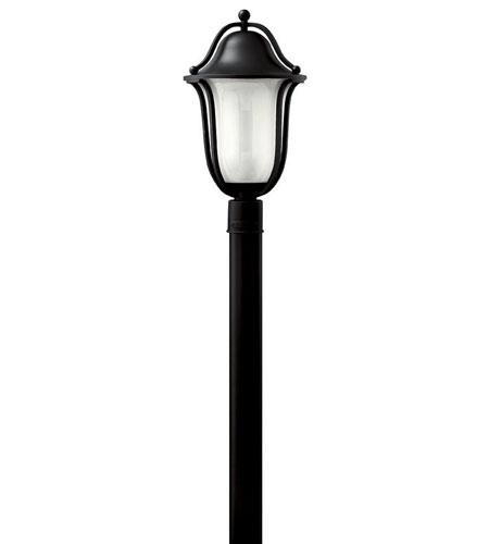 Hinkley Lighting Bolla 1 Light Post Lantern (Post Sold Separately) in Black 2631BK-EST
