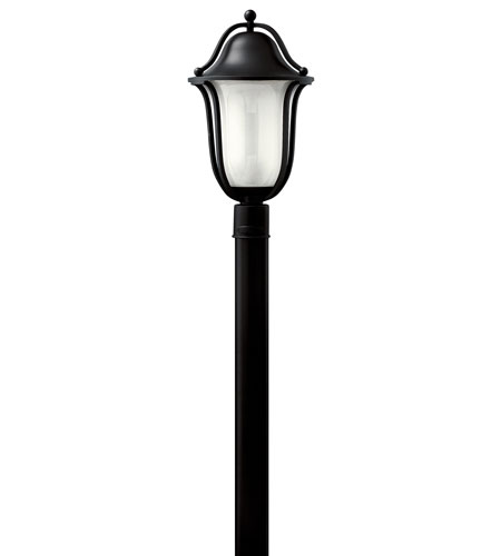 Hinkley Lighting Bolla 1 Light GU24 CFL Post Lantern (Post Sold Separately) in Black 2631BK-GU24