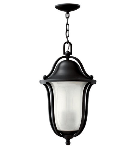 Hinkley Lighting Bolla 1 Light Outdoor Hanging Lantern in Black 2632BK-ES