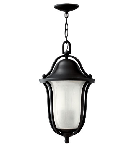 Hinkley Lighting Bolla 1 Light GU24 CFL Outdoor Hanging in Black 2632BK-GU24