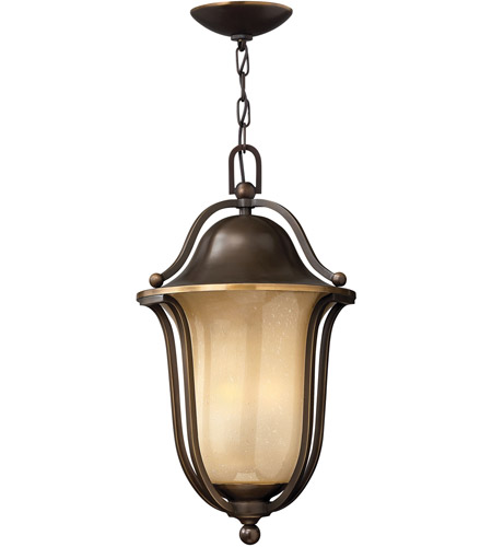 Hinkley 2632OB Bolla 3 Light 11 inch Olde Bronze Outdoor Hanging Lantern in Light Amber Seedy, Incandescent photo