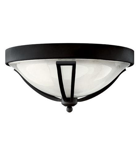 Hinkley Lighting Bolla 2 Light Outdoor Flush Lantern in Black 2633BK-EST