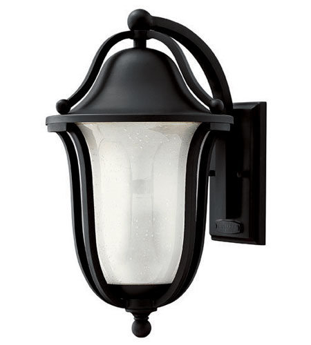 Hinkley Lighting Bolla 1 Light Outdoor Wall Lantern in Black 2634BK-ES photo