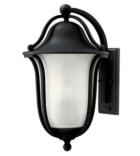 Hinkley Lighting Bolla 1 Light Outdoor Wall Lantern in Black 2635BK-ES