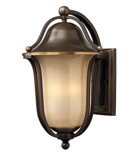Hinkley 2635OB-GU24 Bolla 1 Light 19 inch Olde Bronze Outdoor Wall in Light Amber Seedy, GU24 photo