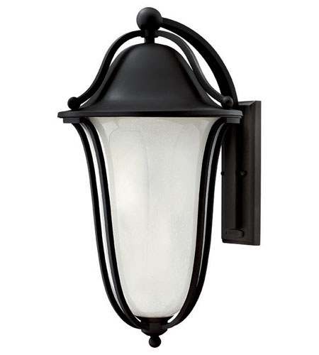 Hinkley Lighting Bolla 2 Light Outdoor Wall Lantern in Black 2639BK-EST