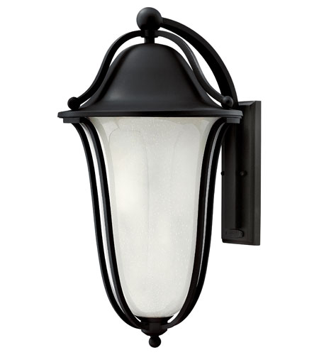 Hinkley 2639BK-GU24 Bolla 1 Light 26 inch Black Outdoor Wall in Clear Seedy Etched Inside, GU24  photo