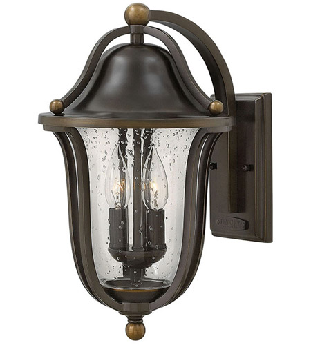 Hinkley 2644OB Bolla 2 Light 16 inch Olde Bronze Outdoor Wall Mount, Clear Seedy Glass photo