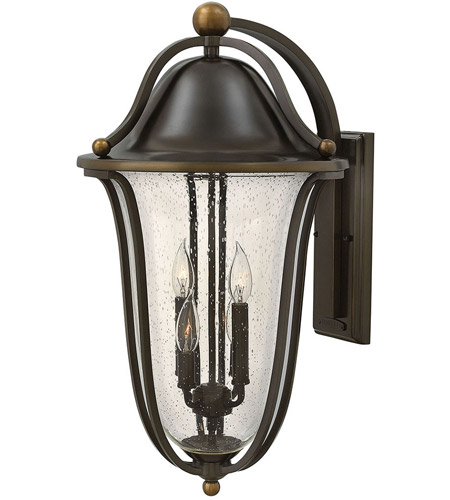 Hinkley 2649OB Bolla 4 Light 26 inch Olde Bronze Outdoor Wall Mount, Clear Seedy Glass photo