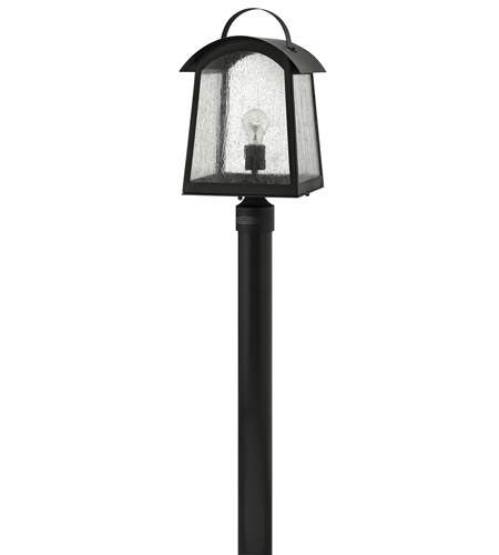 Hinkley Lighting Putney Bridge 1 Light Post Lantern (Post Sold Separately) in Black 2651BK