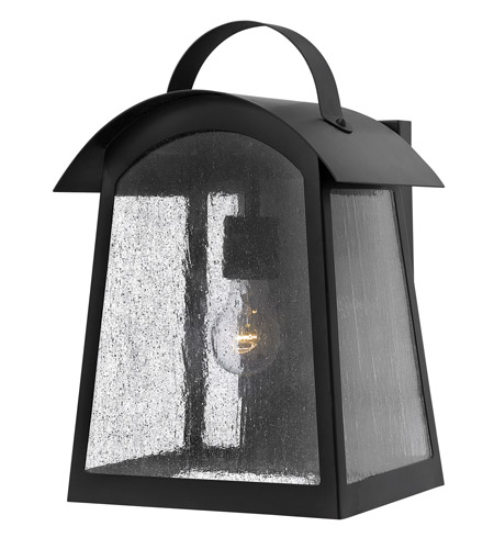 Hinkley 2655BK Putney Bridge 1 Light 16 inch Black Outdoor Wall, Seedy Glass photo