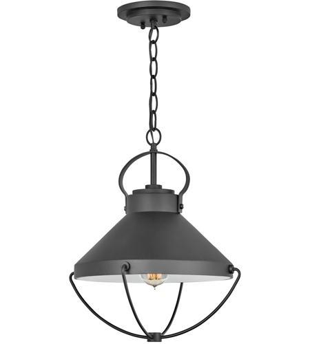 Light 15 Inch Black Outdoor Hanging