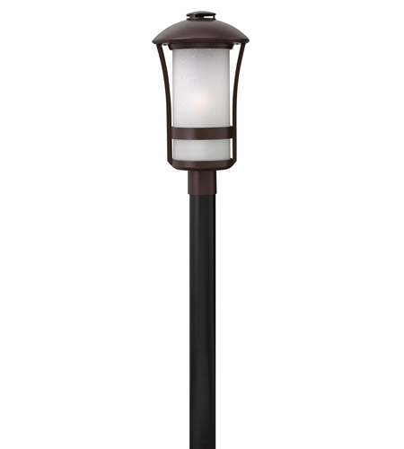 Hinkley 2701AR Chandler 1 Light 21 inch Anchor Bronze Post Mount in Incandescent photo