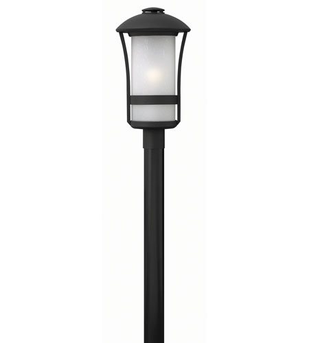 Hinkley Lighting Chandler 1 Light Post Mount in Black 2701BK-GU24