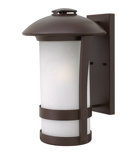 Hinkley 2705AR-LED Chandler 1 Light 17 inch Anchor Bronze Outdoor Wall Lantern in LED, Etched Seedy Glass photo