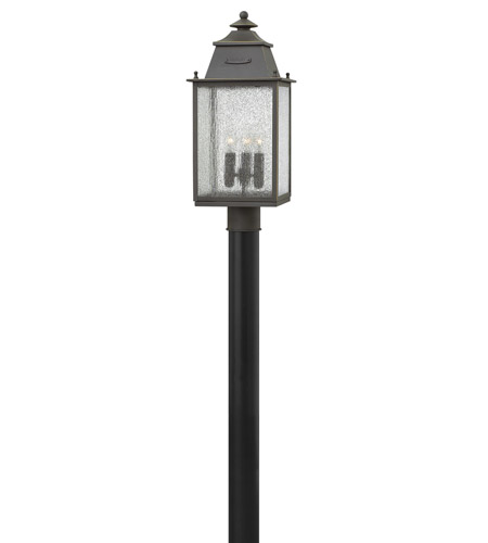 Hinkley Lighting Chatfield 3 Light Outdoor Post Lantern in Oil Rubbed Bronze 2781OZ