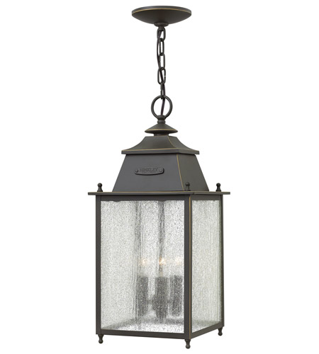 Hinkley 2782OZ Chatfield 3 Light 9 inch Oil Rubbed Bronze Outdoor Hanging Lantern photo