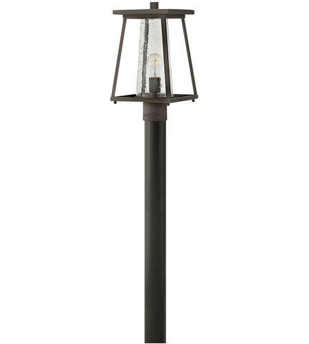 Hinkley 2791OZ-CL Burke 1 Light 16 inch Oil Rubbed Bronze Outdoor Post Mount in Clear Seedy photo
