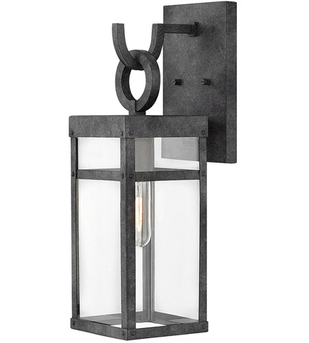 Hinkley 2800DZ Porter 1 Light 19 inch Aged Zinc Outdoor Wall Mount, Small photo