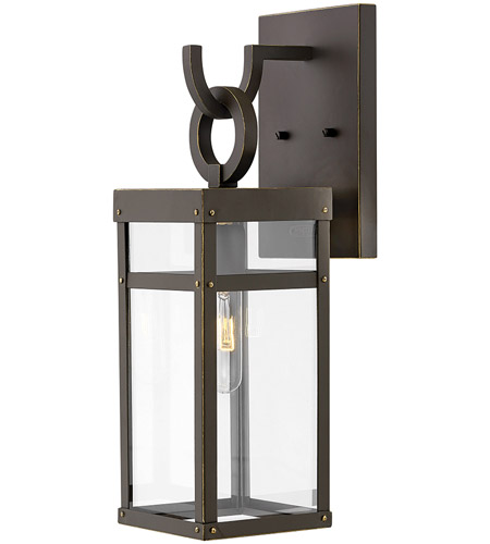 Hinkley 2800OZ Porter 1 Light 19 inch Oil Rubbed Bronze Outdoor Wall Mount, Small  photo