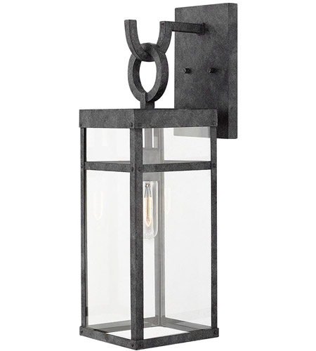 Hinkley 2804DZ Porter 1 Light 22 inch Aged Zinc Outdoor Wall Mount, Medium photo
