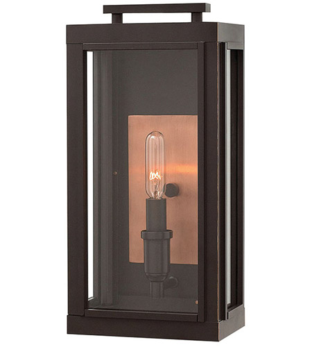 Hinkley Lighting Sutcliffe 1 Light Outdoor Wall in Oil Rubbed Bronze 2910OZ