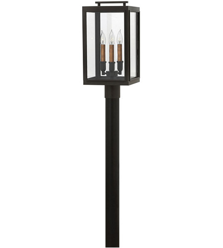 Hinkley 2911OZ Sutcliffe 3 Light 20 inch Oil Rubbed Bronze Outdoor Post Mount in Candelabra photo