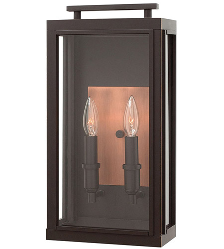 Hinkley 2914OZ Sutcliffe 2 Light 17 inch Oil Rubbed Bronze Outdoor Wall Mount in Candelabra photo