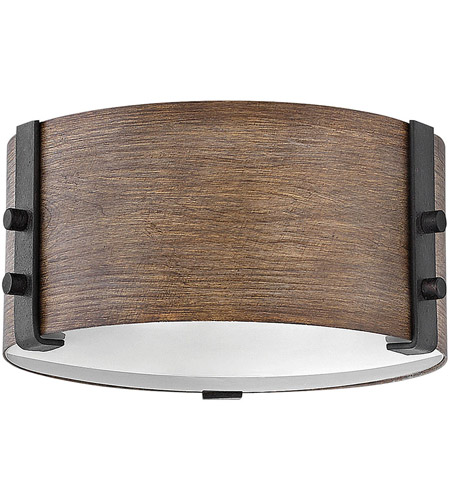 Hinkley 29201SQ Sawyer 2 Light 9 inch Sequoia Outdoor Flush Mount photo