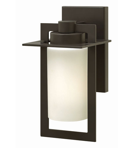 Hinkley 2920BZ-GU24 Colfax 1 Light 12 inch Bronze Outdoor Wall in Etched Seedy, GU24, Etched Opal Glass photo