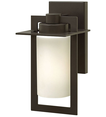 Hinkley 2920BZ Colfax 1 Light 12 inch Bronze Outdoor Wall in Etched Opal, Incandescent, Etched Opal Glass photo