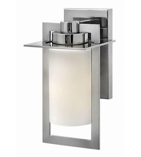 Hinkley 2920PS-GU24 Colfax 1 Light 12 inch Polished Stainless Steel Outdoor Wall in Etched Opal, GU24, Etched Opal Glass photo
