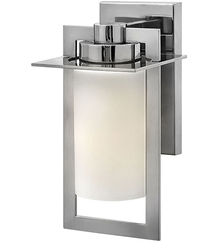 Hinkley 2920PS Colfax 1 Light 12 inch Polished Stainless Steel Outdoor Wall Mount in Incandescent, Etched Opal Glass  photo