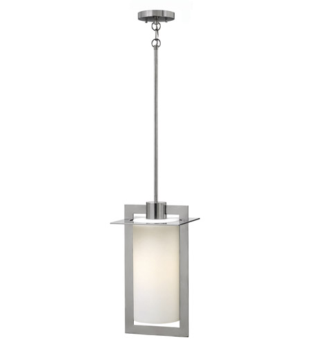 Hinkley 2922PS-GU24 Colfax 1 Light 10 inch Polished Stainless Steel Outdoor Hanging Lantern in GU24, Etched Opal Glass photo