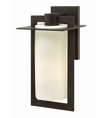 Hinkley 2924BZ-GU24 Colfax 1 Light 15 inch Bronze Outdoor Wall in Etched Seedy, GU24, Etched Opal Glass photo
