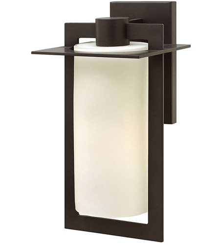 Hinkley 2924BZ Colfax 1 Light 15 inch Bronze Outdoor Wall Mount in Incandescent, Etched Opal Glass photo