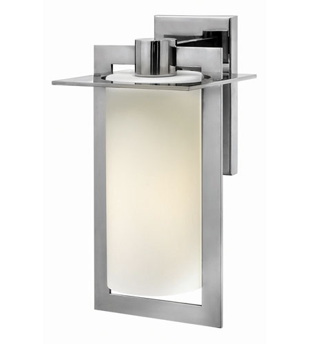 Hinkley 2924PS-GU24 Colfax 1 Light 15 inch Polished Stainless Steel Outdoor Wall in Etched Opal, GU24, Etched Opal Glass photo